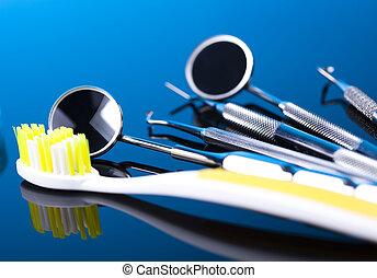 dental, satz, werkzeuge