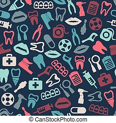 dental seamless pattern