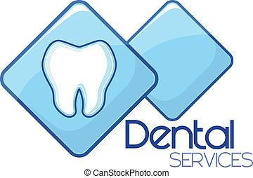 dental, servicios, diseño