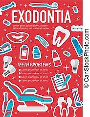 Dental surgery exodontia medical poster