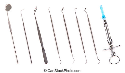 Dental surgery instruments - set of stainless steel dental...