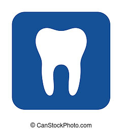 Dental symbol icon illustration