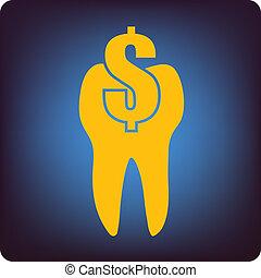 Dental symbol with money icon