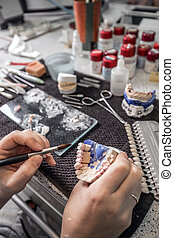 Dental technician paint