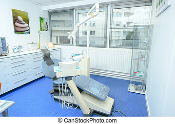 dental, tom, kontor