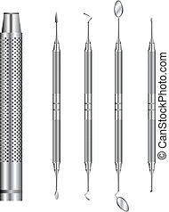 Dental tools vector illustration - Detailed vector...