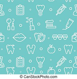 Dental Tooth Clinic Background Pattern. Vector