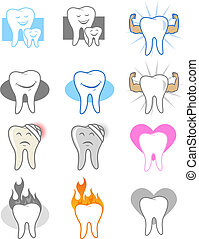 Dental Tooth Icons and Symbols