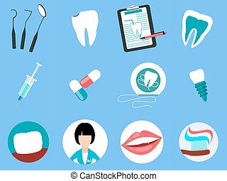 Dental Treatment Design Flat Concept