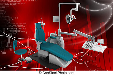 Dental unit - Digital illustration of Dental unit in colour...
