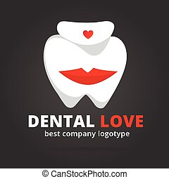 Dental vector logotype isolated on dark