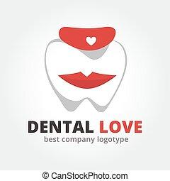 Dental vector logotype isolated on white