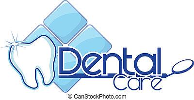 dental, vektor, design, lysande