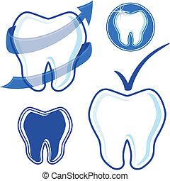 dental, vektor, kunst, klammer