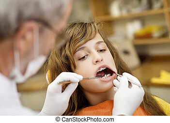 Dental visit - Patient is having dental treatment at dentist