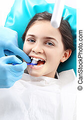 dental, zahnarzt, chair., kind