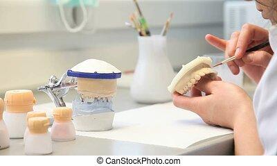 dental, zahnarzt, gegenstände, implantate