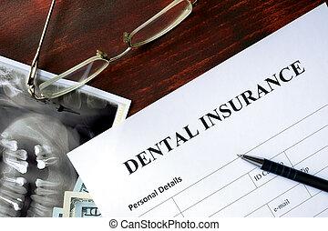 dentale, assicurazione, forma
