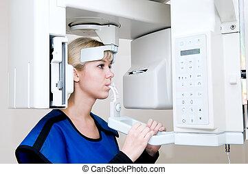 dentale, diagnostiske, digial, system, imaging