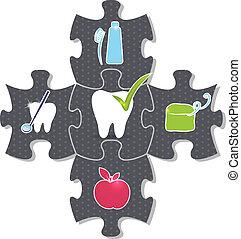 dentale gesundheit, puzzel