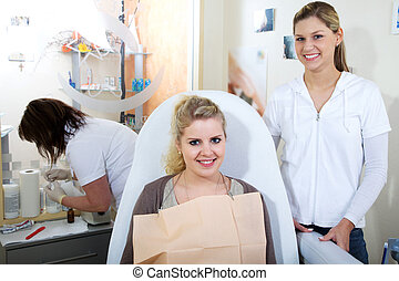 dentale, hold, arbejde