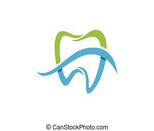 dentale, logotipo, sagoma