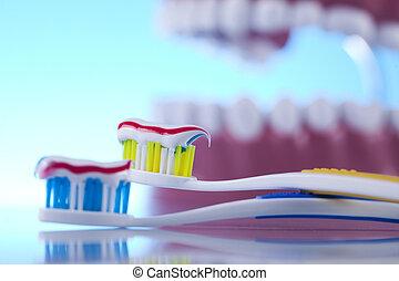 dentale, oggetti, salute, cura