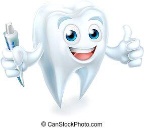 dentale, tand, mascot