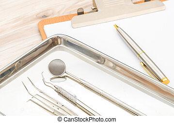 dentale tool, und, ausrüstung