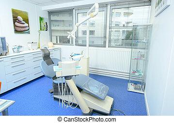 dentale, vuoto, ufficio