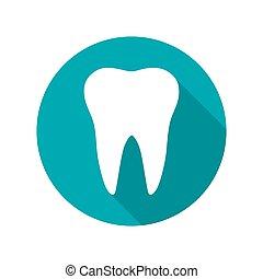 dente, ícone, símbolo, vetorial, ilustração