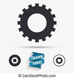 dente, ajustes, sinal, icon., cogwheel, engrenagem, símbolo.