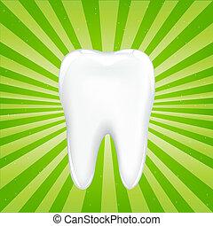 dente, com, vigas