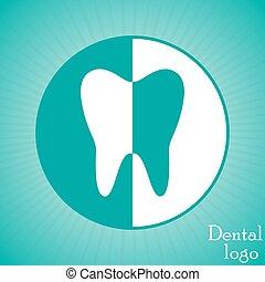dente, dental, logotipo, design., vetorial, ilustração, eps10