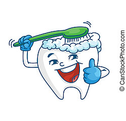 dente, e, spazzola