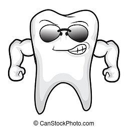 dente, forte