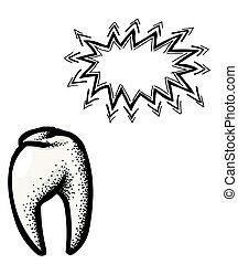 dente, icon., odontologia, símbolo
