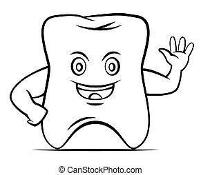 dente, olá, mascote