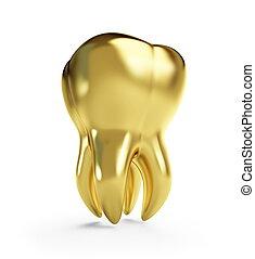 dente ouro