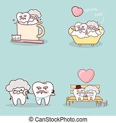 dente, stile di vita, felice