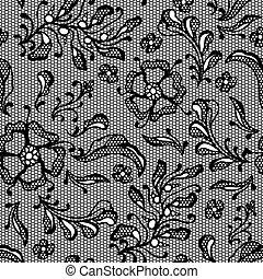 dentelle, flowers., vendange, fond, décoratif
