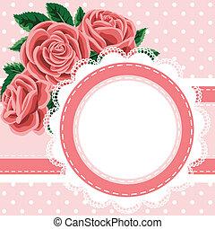 dentelle, roses