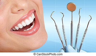 dentes, com, dental, tools.