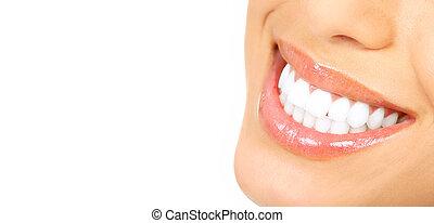 dentes, mulher
