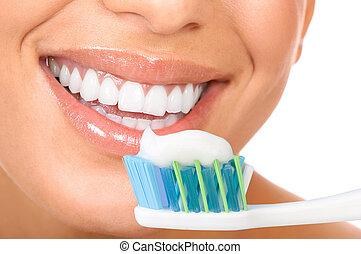 dentes, saudável
