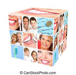 dentes, whitening.