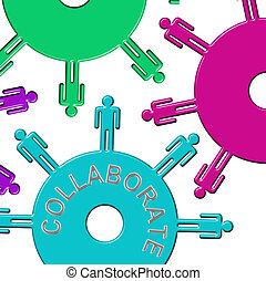 denti, collaborare, lavorare insieme