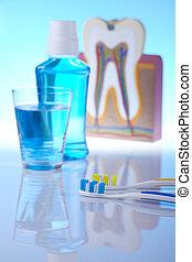 denti, dentale, oggetti, salute, cura