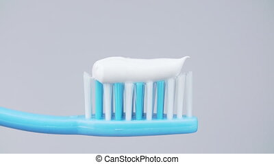 dentifrice, blanc, brosse dents, fond
