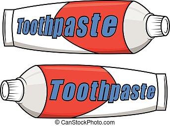 dentifricio, cartone animato